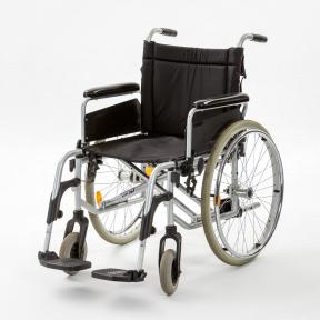 Invalidní vozík KLASIK bez brzd pro doprovod